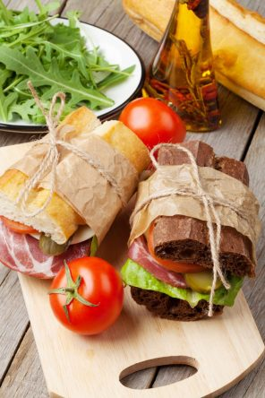 Sandwiches and salad