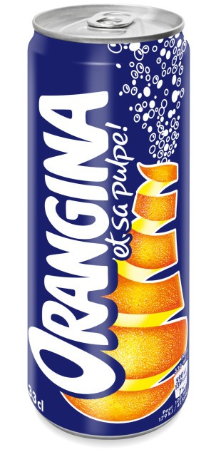 ORANGINA slim can